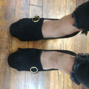 Marc Fisher Shoes - Marc Fisher Black Suede Loafers 9.5